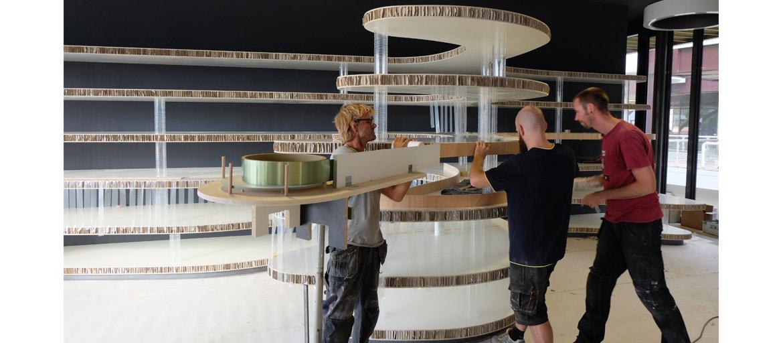 Making off artshop centro pecci prato italy xylos - Makers van het interieur ...