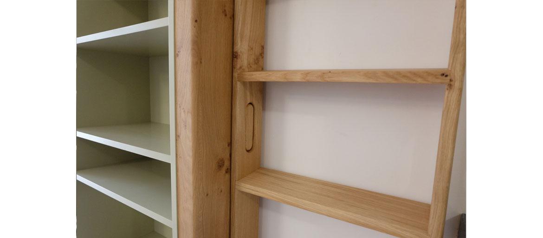boekenkast met ladder xylos